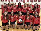 Westview Warriors Girls Varsity Volleyball Fall 18-19 team photo.