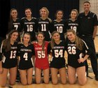 Carrollwood Day Patriots Girls Varsity Volleyball Fall 18-19 team photo.