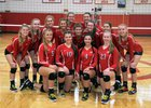 Barnstable Red Raiders Girls Varsity Volleyball Fall 18-19 team photo.
