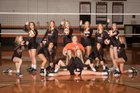 Rosman Tigers Girls Varsity Volleyball Fall 18-19 team photo.