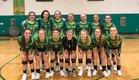 Alleghany Trojans Girls Varsity Volleyball Fall 18-19 team photo.