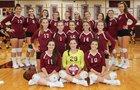 Kings Park Kingsmen Girls Varsity Volleyball Fall 18-19 team photo.