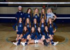 Linfield Christian Lions Girls Varsity Volleyball Fall 18-19 team photo.