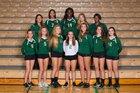 Saint Stephen's Episcopal Falcons Girls Varsity Volleyball Fall 18-19 team photo.