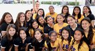 Holy Family Gaels Girls Varsity Volleyball Fall 18-19 team photo.
