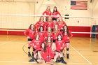 Baker Bees Girls Varsity Volleyball Fall 18-19 team photo.