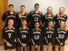 Oxford Academy Blackhawks Girls Varsity Volleyball Fall 18-19 team photo.