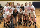 Living Word Lutheran Timberwolves Girls Varsity Volleyball Fall 18-19 team photo.