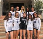 Archer School for Girls Panthers Girls Varsity Volleyball Fall 18-19 team photo.