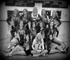 West Davidson Dragons Girls Varsity Volleyball Fall 18-19 team photo.