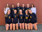 Burlington-Edison Tigers Girls Varsity Volleyball Fall 18-19 team photo.