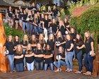Bentonville Tigers Girls Varsity Volleyball Fall 18-19 team photo.