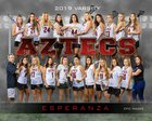 Esperanza Aztecs Girls Varsity Lacrosse Spring 18-19 team photo.