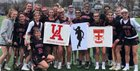 Ursuline Academy Raiders Girls Varsity Lacrosse Spring 18-19 team photo.