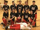 St. Augustine Catholic Wolves Boys Varsity Volleyball Spring 18-19 team photo.