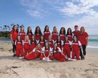 Orange Lutheran Lancers Girls Varsity Softball Spring 16-17 team photo.