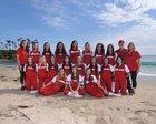 Orange Lutheran Lancers Girls Varsity Softball Spring 16-17 team photo.