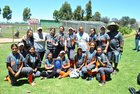 Huntington Park Spartans Girls Varsity Softball Spring 16-17 team photo.