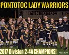 Pontotoc Warriors Girls Varsity Softball Spring 16-17 team photo.