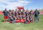Bernalillo Spartans Girls Varsity Softball Spring 16-17 team photo.