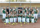 Ontario Christian Knights Girls Varsity Softball Spring 16-17 team photo.