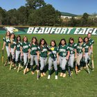 Beaufort Eagles Girls Varsity Softball Spring 16-17 team photo.