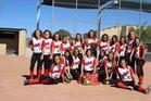 Eunice Cardinals Girls Varsity Softball Spring 16-17 team photo.