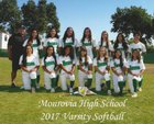 Monrovia Wildcats Girls Varsity Softball Spring 16-17 team photo.