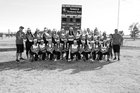 Clayton Yellowjackets Girls Varsity Softball Spring 16-17 team photo.