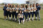 Santa Fe Demons Girls Varsity Softball Spring 16-17 team photo.
