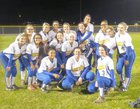 Auburndale Bloodhounds Girls Varsity Softball Spring 16-17 team photo.