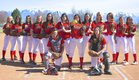Grantsville Cowboys Girls Varsity Softball Spring 16-17 team photo.