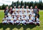 Cle Elum-Roslyn Warriors Girls Varsity Softball Spring 16-17 team photo.