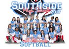 Southside Mavericks Girls Varsity Softball Spring 16-17 team photo.