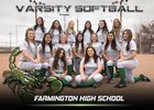 Farmington Scorpions Girls Varsity Softball Spring 16-17 team photo.