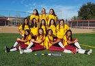 Cupertino Pioneers Girls Varsity Softball Spring 16-17 team photo.