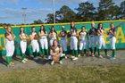 Richmond Raiders Girls Varsity Softball Spring 16-17 team photo.