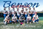 Benson Bobcats Girls Varsity Softball Spring 16-17 team photo.