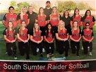 South Sumter Raiders Girls Varsity Softball Spring 16-17 team photo.