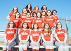 Rivercrest Colts Girls Varsity Softball Spring 16-17 team photo.