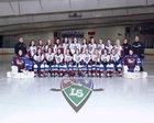 Frontier Falcons Girls Varsity Ice Hockey Winter 17-18 team photo.