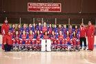 Massena Red Raiders Girls Varsity Ice Hockey Winter 17-18 team photo.