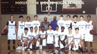 Mountain House Mustangs Boys Freshman Basketball Winter 17-18 team photo.