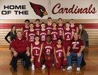 Medical Lake Cardinals Boys Freshman Basketball Winter 17-18 team photo.