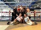 Haas Hall Academy  Girls Varsity Swimming Winter 19-20 team photo.
