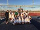 Carondelet Cougars Girls Freshman Soccer Winter 16-17 team photo.