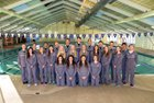 Clovis Wildcats Girls Varsity Swimming Winter 16-17 team photo.