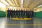 Newcomb Skyhawks Boys Varsity Wrestling Winter 17-18 team photo.