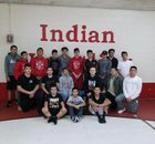 Cobre Indians Boys Varsity Wrestling Winter 17-18 team photo.