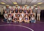 Manzano Monarchs Boys Varsity Wrestling Winter 17-18 team photo.